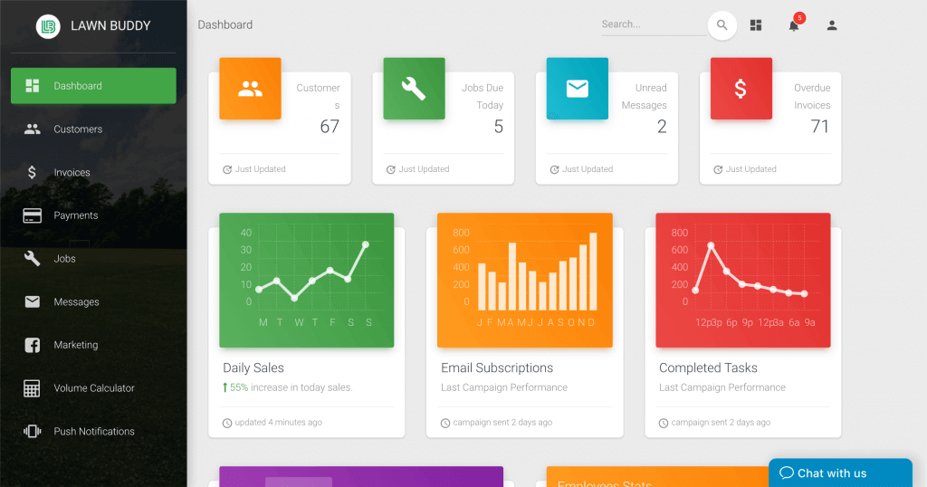 Lawn Buddy - Lawn & Landscaping Business Management Software